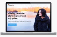 Private Phoenix Wealth Management's designed website on a laptop