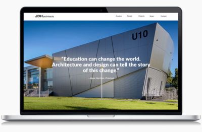 JDH Architects's website on the desktop